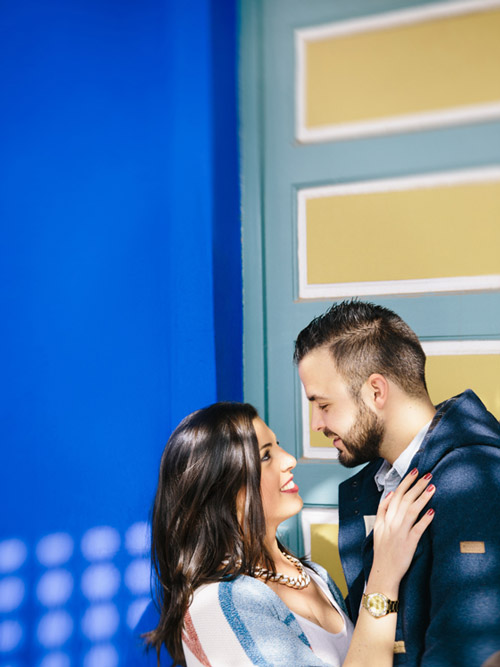 Marrakech Engagement Session in the Majorelle Garden
