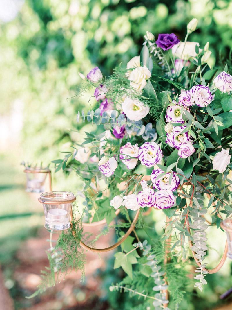 Outdoor Wedding Ceremony Floral Details in Seville