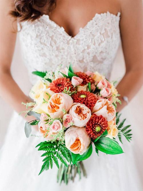Bridal Bouquet Ardea Purpurea Lodge Wedding