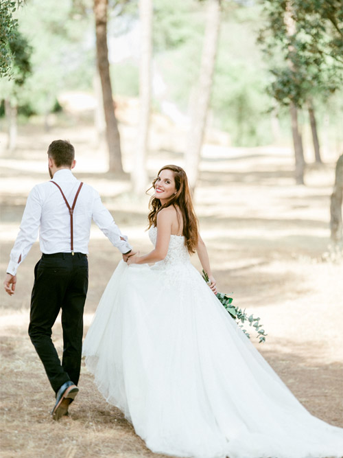 Fine Art Photography of Bride and Groom in the Woods