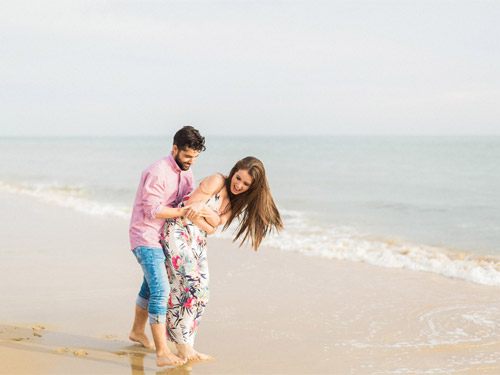 Joyful Engagement Session at the Beach in Huelva