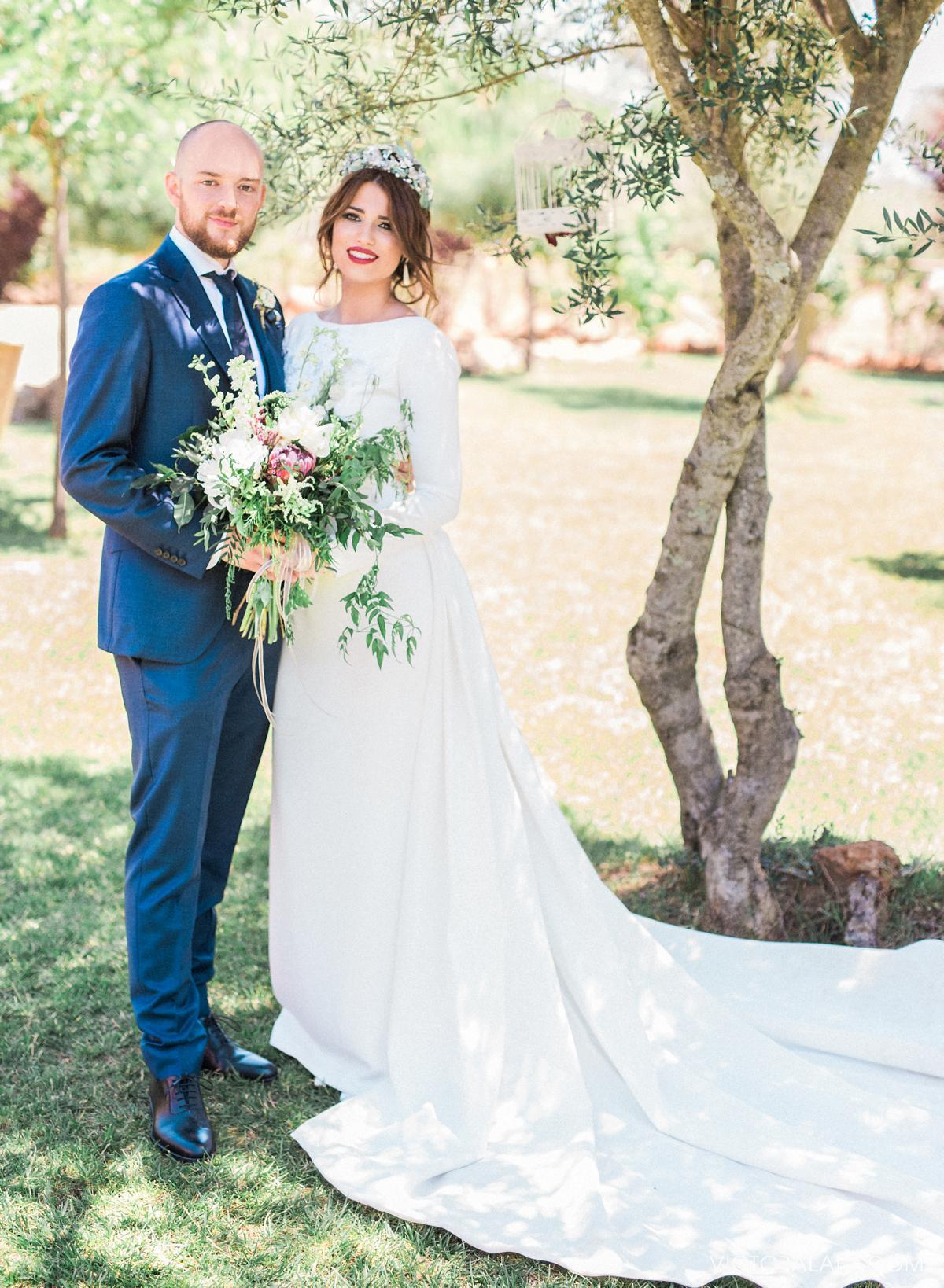 Retratos de Recién Casados de Boda en Cáceres