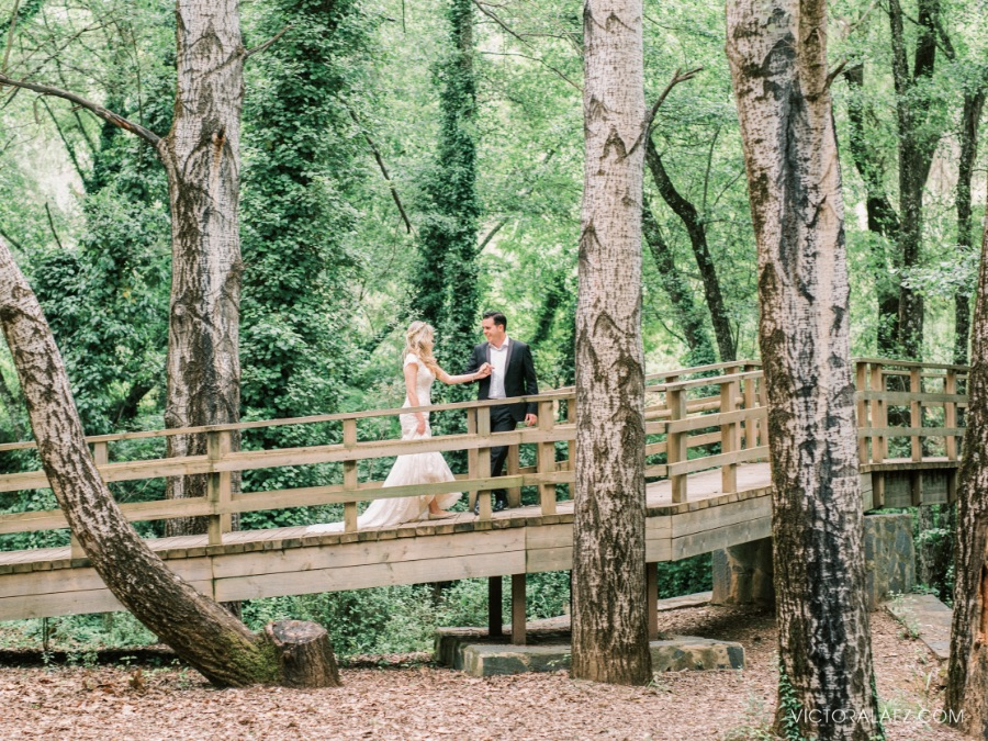 Deep Forest Bride and Groom Portraits