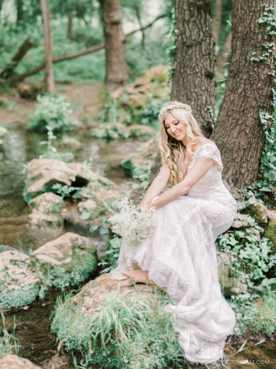 Fine Art Bride in Forest Photoshoot