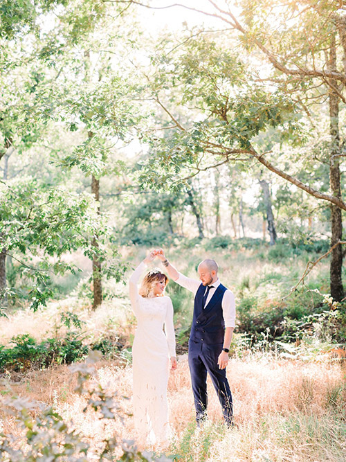 After Wedding Light and Airy Session with Bride and Groom in Caceres
