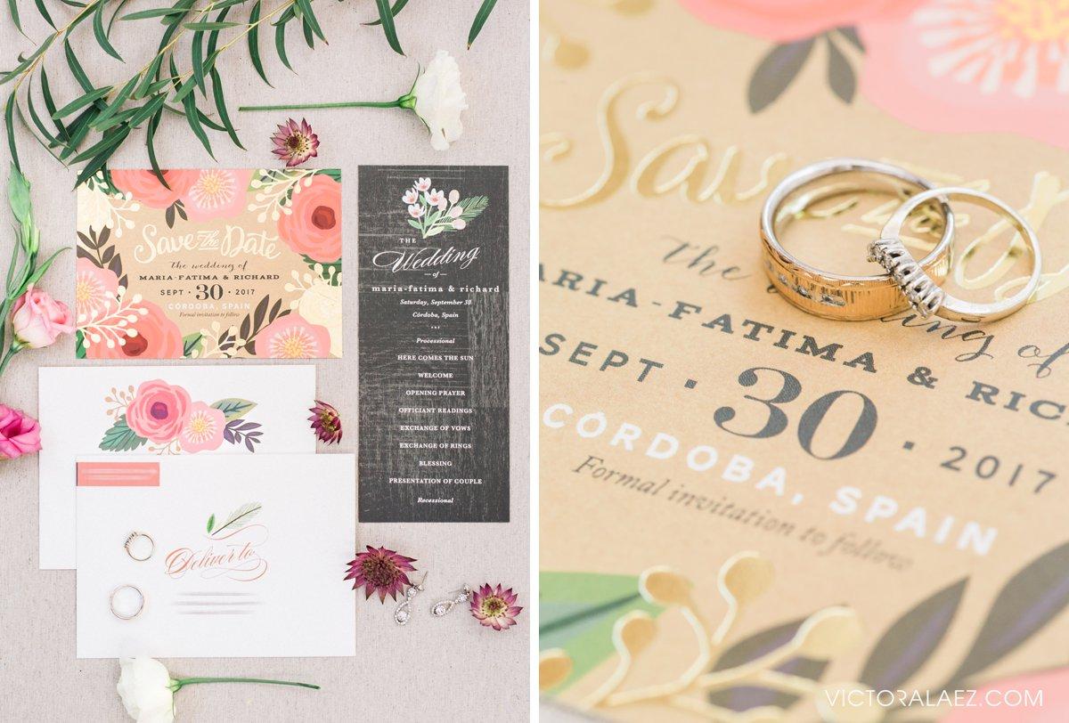 Invitations Suite of Destination Wedding in Cordoba