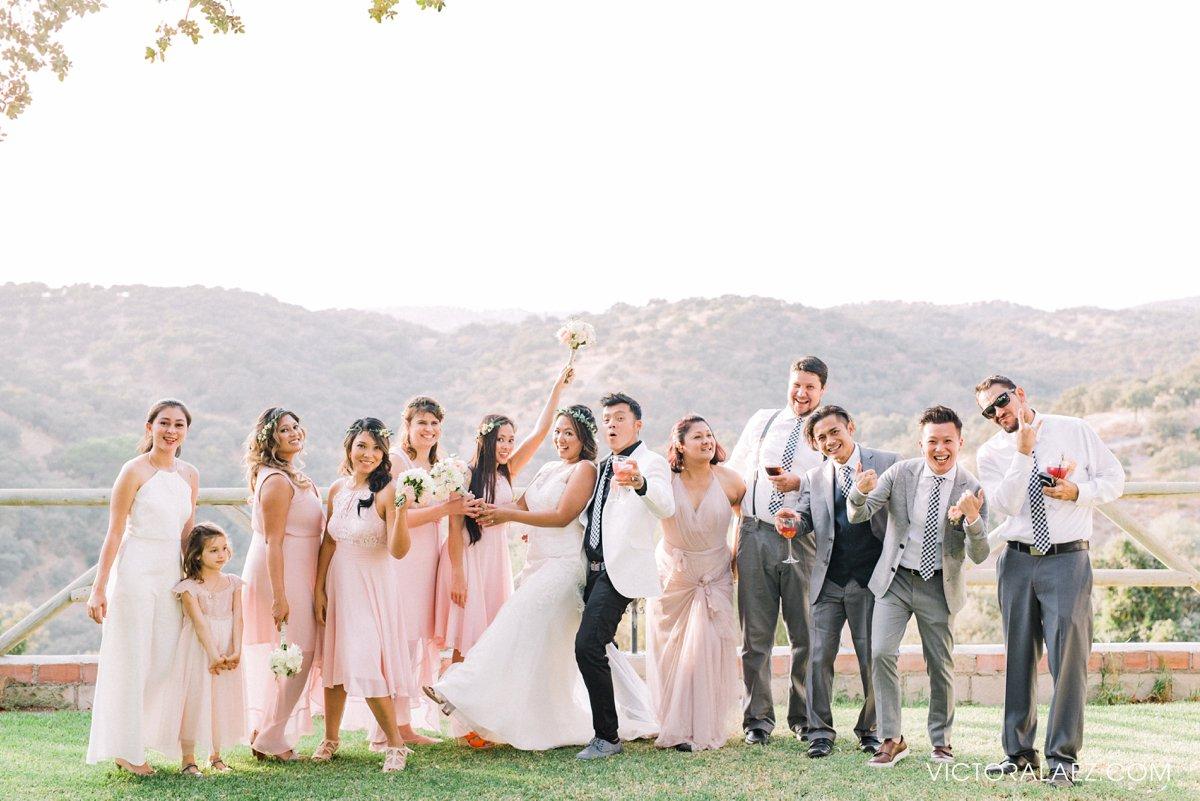 Joyful Bridal Party of Destination Wedding in Cordoba