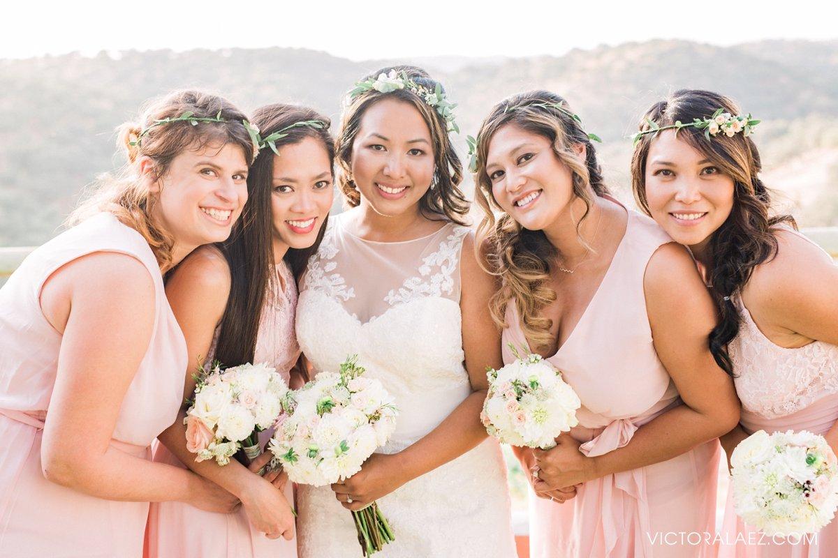 Bridal Party in Hacienda la Torre