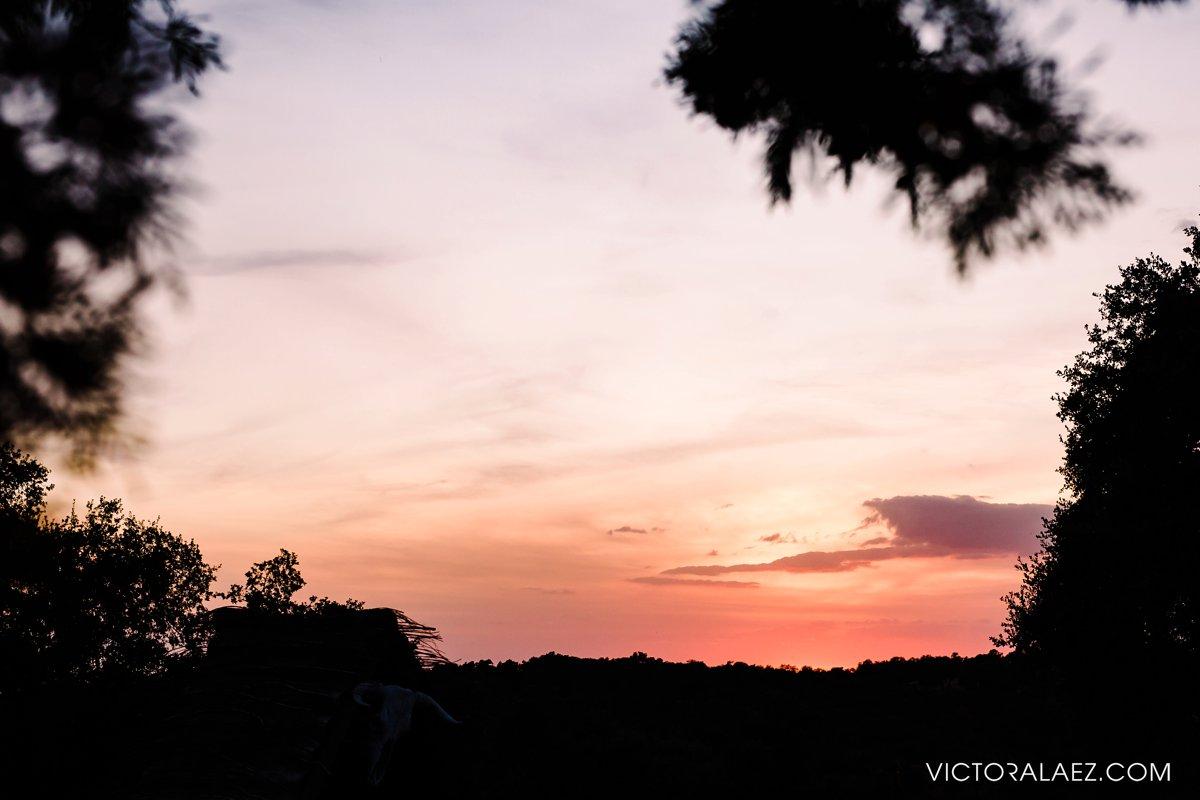 Pink Sunset in Hacienda la Torre, Cordoba
