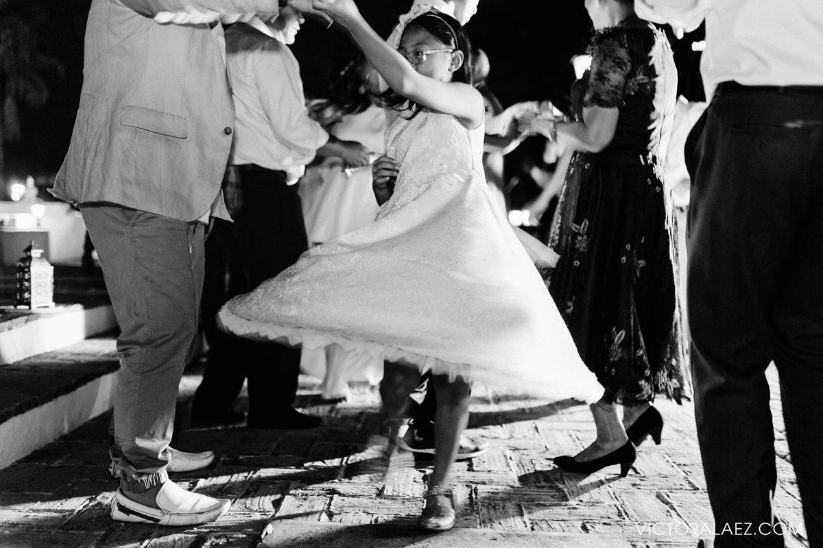 Dancing Girl in Destination Wedding in Hacienda la Torre