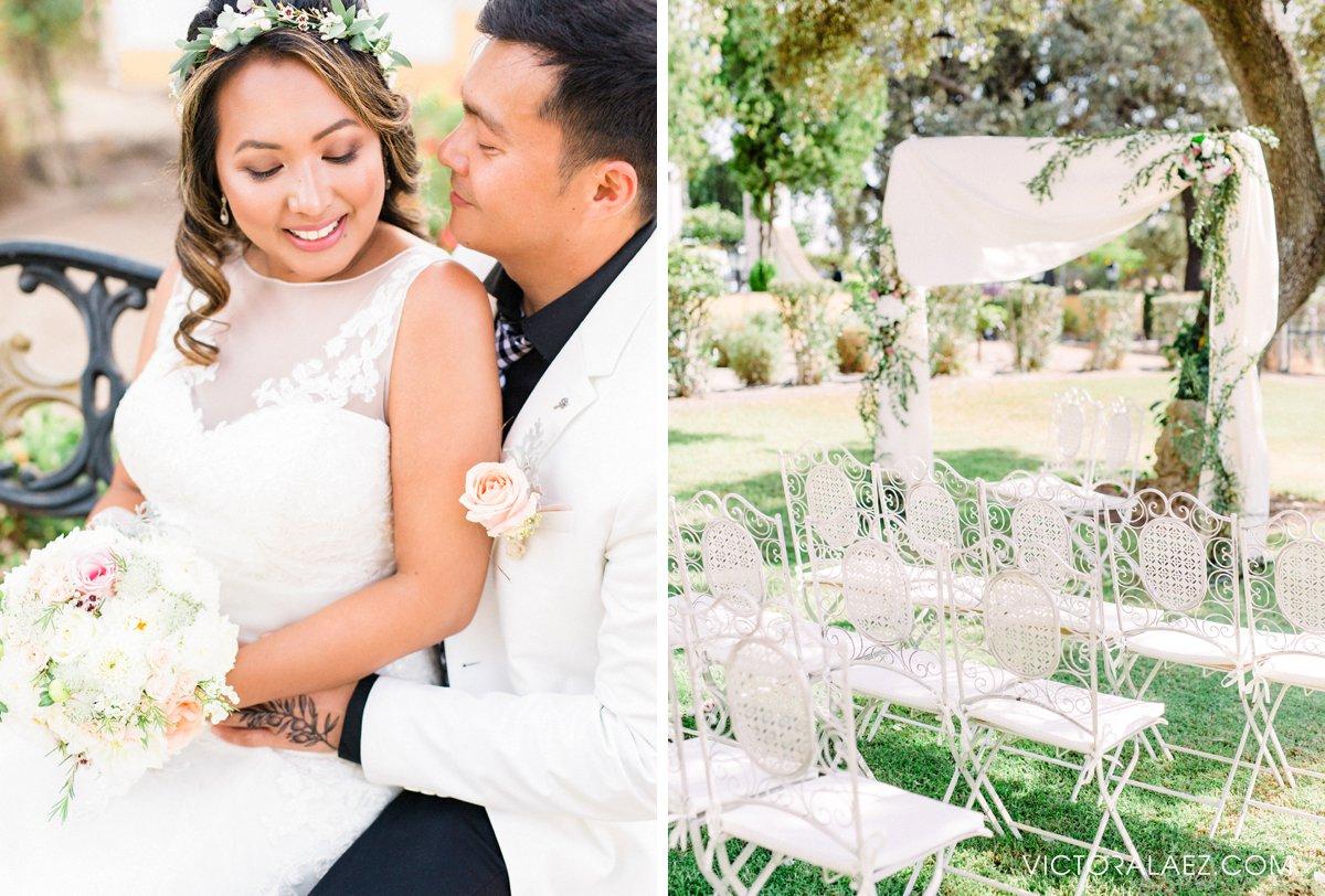 Bride and Groom Portraits in Hacienda la Torre