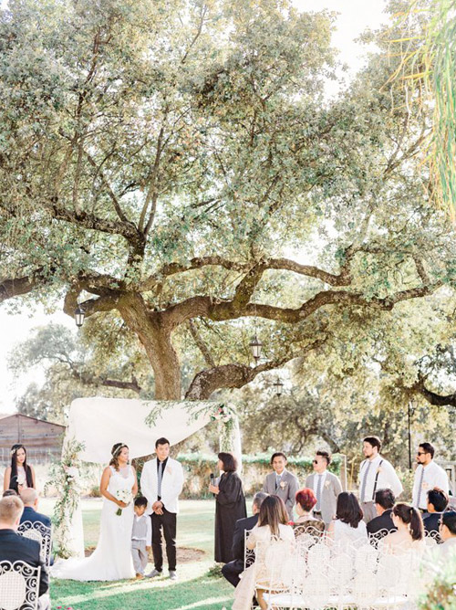 Outdoor Wedding Ceremony in Hacienda la Torre