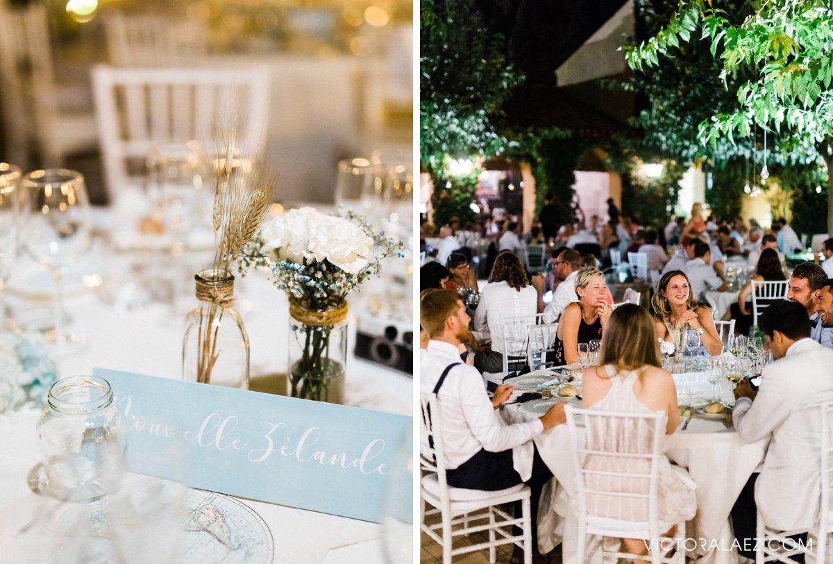 Outdoor Wedding Reception Details in Seville