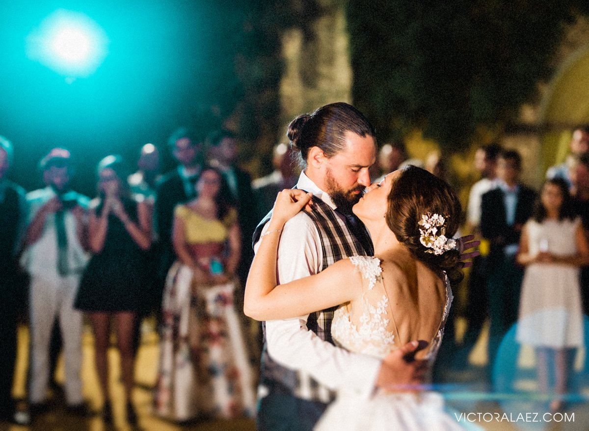 Bride and Groom First Dance Outdoors