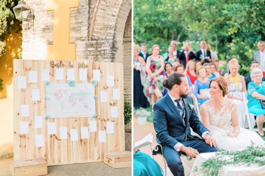 Joyful Couple in Castillo de la Monclova Wedding