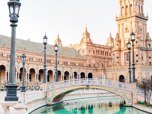 Plaza de España de Sevilla Fotos al Amanecer