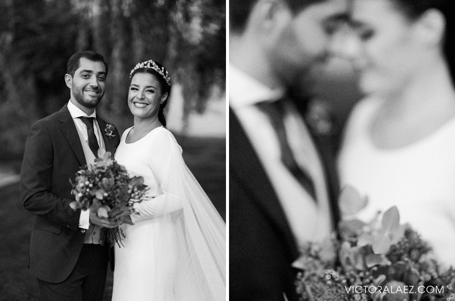 Black and White Bride and Groom Portraits in El Esturion