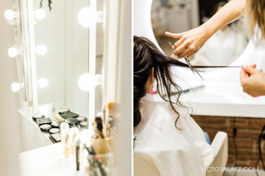 Bride Getting Ready at Beauty Salon