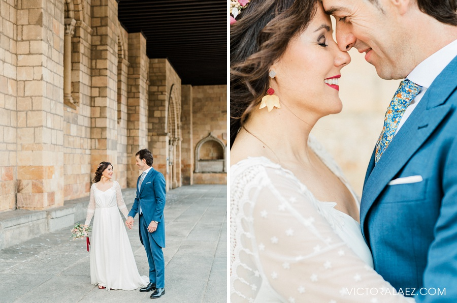 Bride and Groom Portraits in Avila