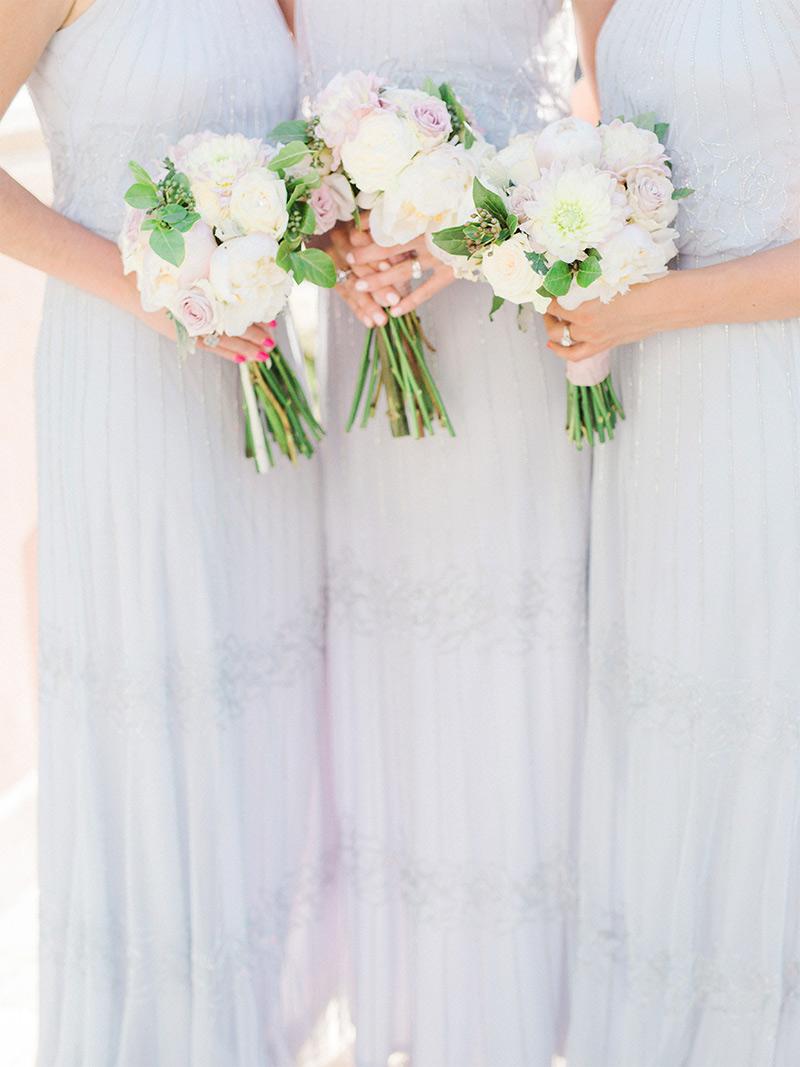 Bridesmaids Bouquets and Dresses in Anantara Hotel Marbella Malaga