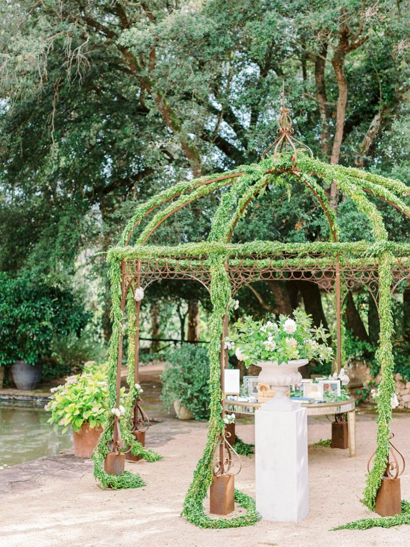 Honoring Family Memories Flowers Pergola Wedding in Bell Reco
