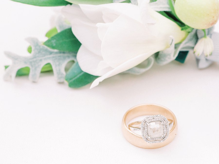 Light and Airy Wedding Ring Photo