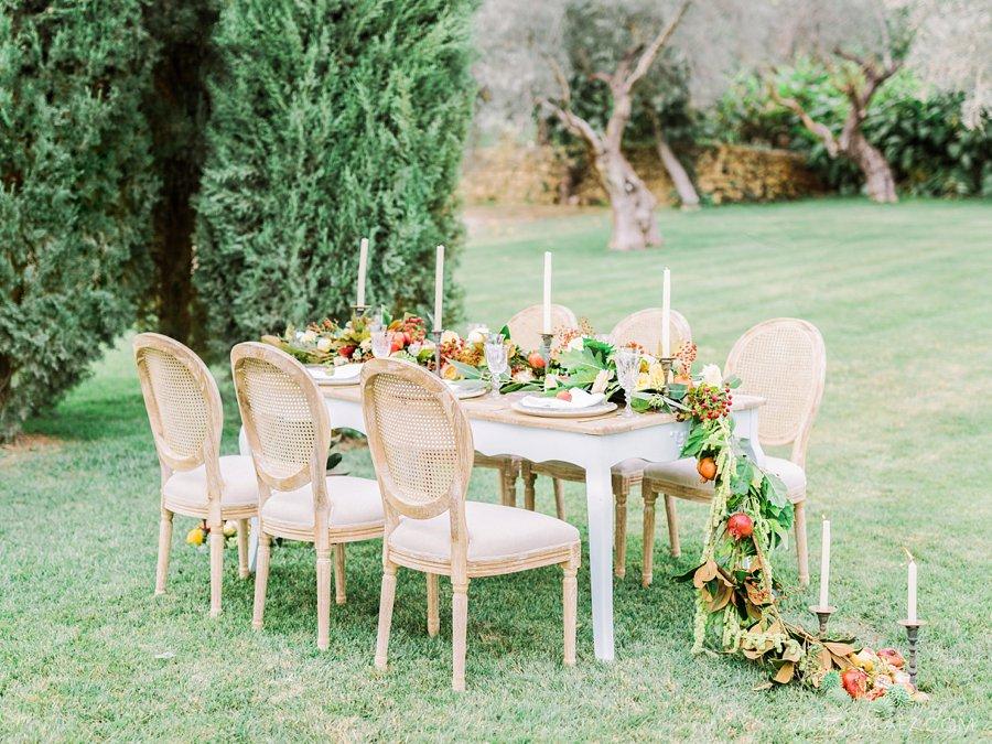 Beautiful Wedding Table Set Up in Malaga