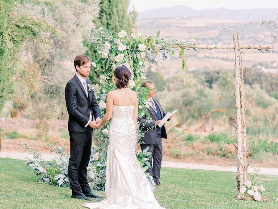 Romantic Elopement in Ronda in Hotel Fuente de la Higuera