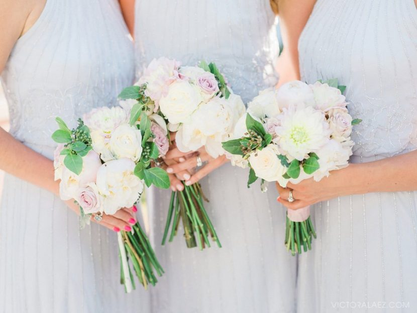 Beautiful Light and Airy Bridesmaids Bouquets in Malaga