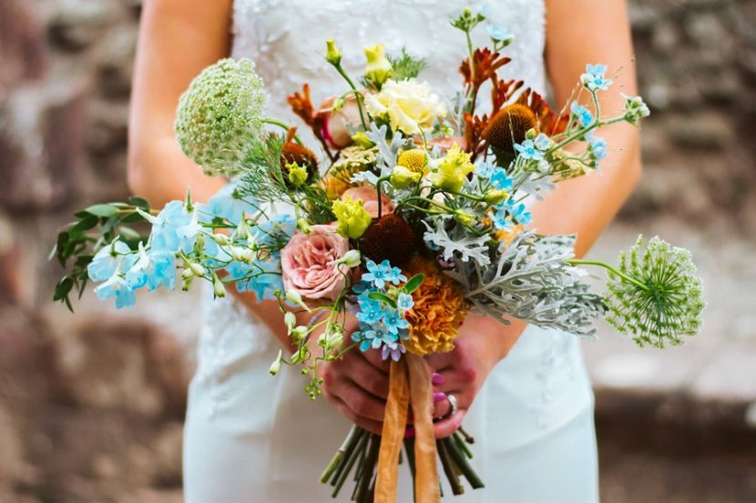 Beautiful Wedding Bouquet by Emma Jane. Vivid Colors