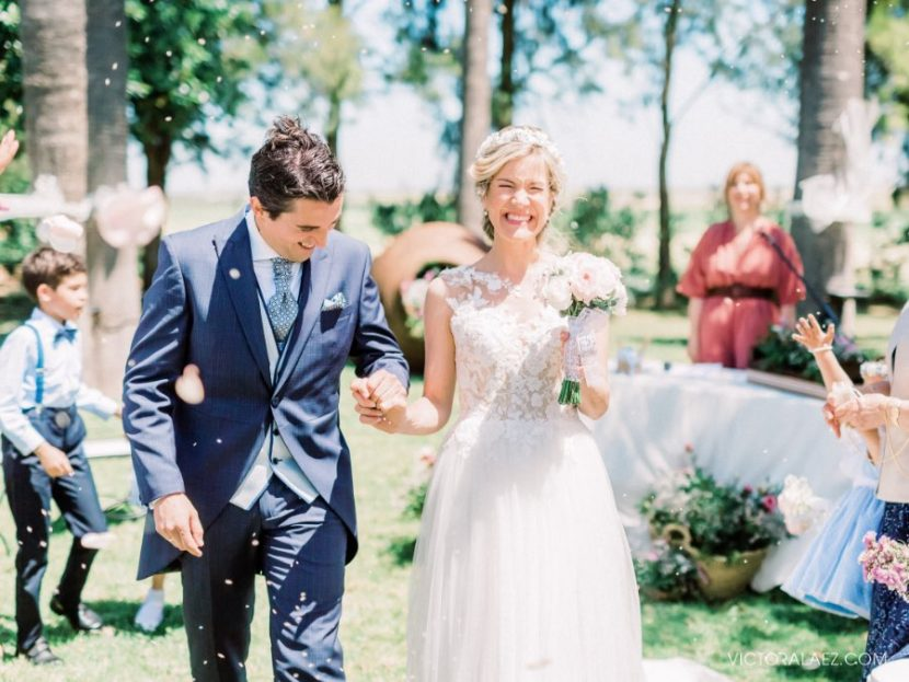Sunny Outdoor Wedding Ceremony in Seville