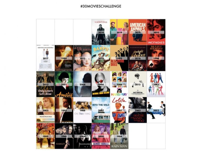 The 30 Movies Challenge